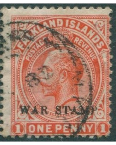 Falkland Islands 1918 SG71c KGV WAR STAMP ovpt FU