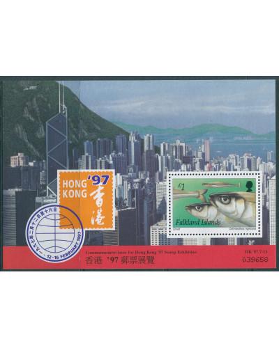 Falkland Islands 1997 SG779 Hong Kong Stamp Exhibition Smelt MS MNH
