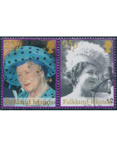 Falkland Islands 2002 SG932-934 Queen Mother FU