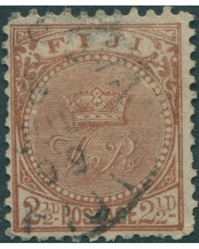 Fiji 1897 SG103 2½d brown Crown and VR p11x11¾ FU