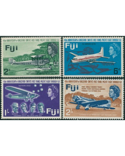Fiji 1968 SG367-370 Kingsford Smith Flight QEII set MNH