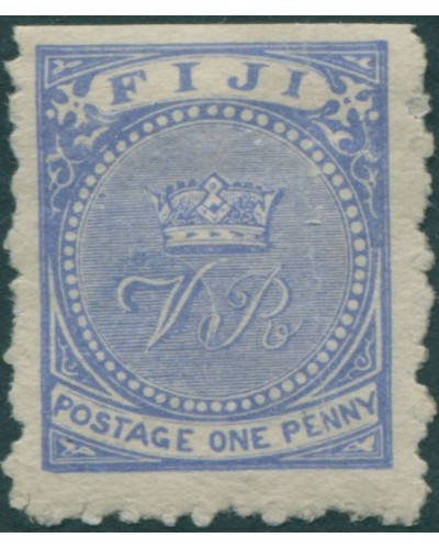 Fiji 1881 SG39 1d dull blue Crown and VR p10 MLH
