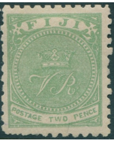 Fiji 1881 SG40 2d yellow-green Crown and VR p10 MLH