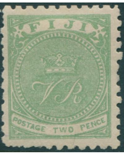 Fiji 1881 SG40 2d yellow-green VR p10 MLH