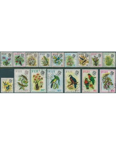 Fiji 1971 SG435-450 Flowers Birds set FU