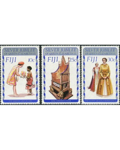 Fiji 1977 SG536-538 QEII Silver Jubilee set MNH
