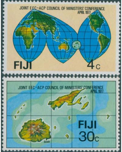 Fiji 1977 SG539-540 Council of Ministers set MNH