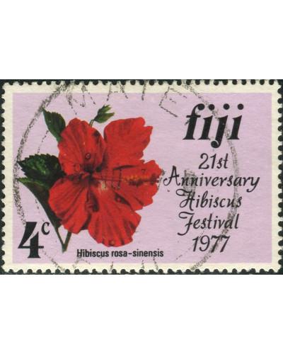 Fiji 1977 SG541 4c Hibiscus FU