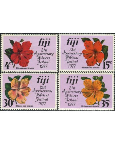 Fiji 1977 SG541-544 Hibiscus set MNH