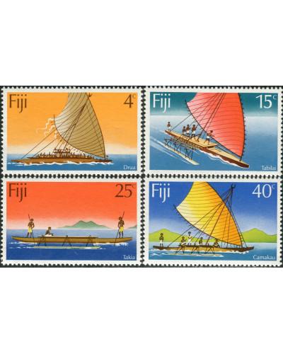 Fiji 1977 SG545-548 Canoes set MNH