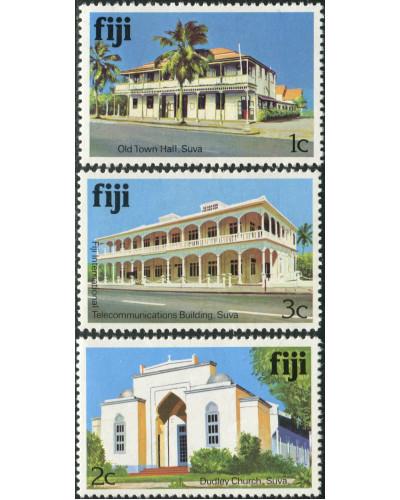 Fiji 1979 SG580A-582A Architecture MNH