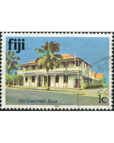 Fiji 1979 SG580B 1c Old Town Hall 1994 imprint FU