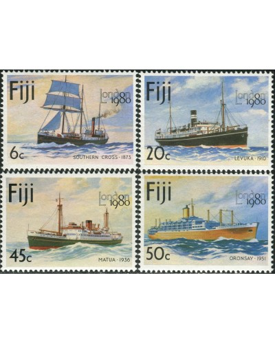 Fiji 1980 SG596-599 Mail-carrying Ships set MNH