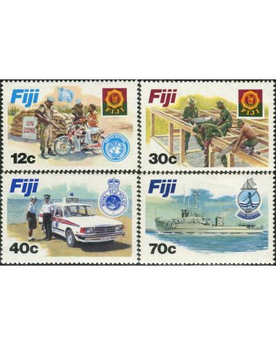 Fiji 1982 SG632-635 Disciplined Forces set MNH