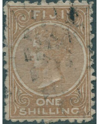 Fiji 1881 SG64 1/- pale brown Queen Victoria p10 FU