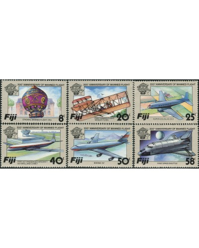 Fiji 1983 SG659-664 Manned Flight set MNH