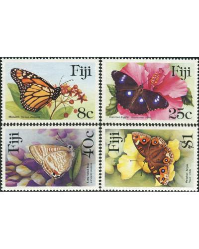 Fiji 1985 SG693-696 Butterflies set MNH