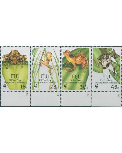 Fiji 1988 SG778-781 WWF Tree Frog set MNH