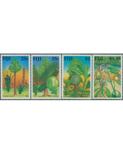 Fiji 1990 SG815-818 Native Timber Trees set MNH