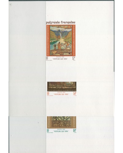 French Polynesia 1988 SG532-534 Tapa Paintings set proofs MNH