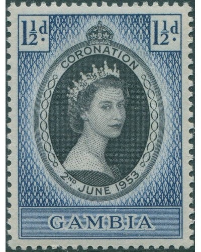 Gambia 1953 SG170 1½d Coronation MLH