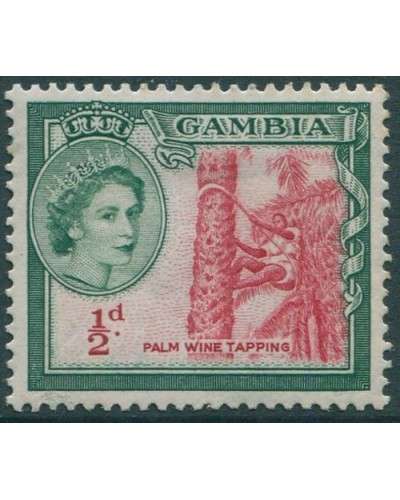 Gambia 1953 SG171 ½d Palm Wine Tapping QEII MLH