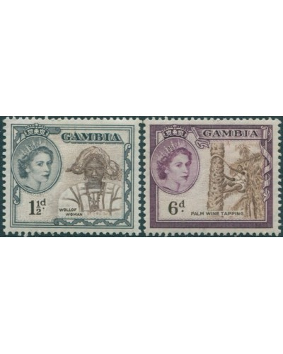 Gambia 1953 SG173-177 QEII Woman Pine Wine Tapping MLH