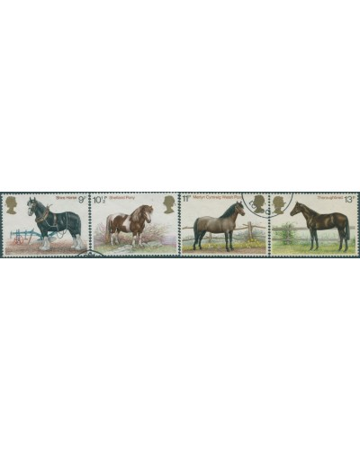 Great Britain 1978 SG1063-1066 QEII Horses set FU