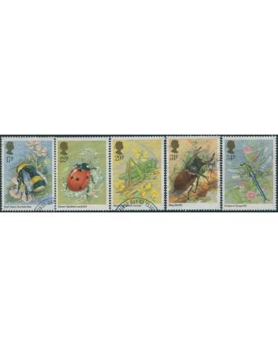 Great Britain 1985 SG1277-1281 QEII Insects set FU
