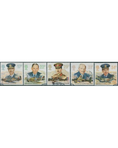 Great Britain 1986 SG1336-1340 QEII Royal Air Force set FU