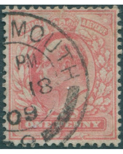 Great Britain 1902 SG220 1d bright scarlet KEVII FU