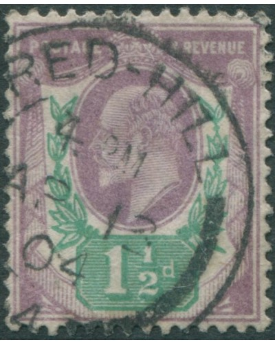 Great Britain 1902 SG221 1½d dull purple and green KEVII FU