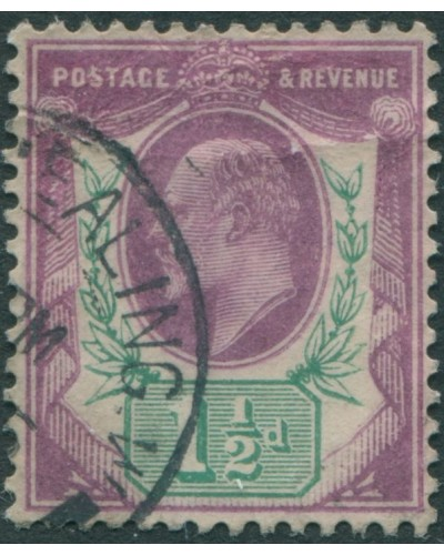 Great Britain 1902 SG224 1½d purple and green KEVII FU