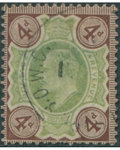Great Britain 1902 SG235 4d green and grey-brown KEVII FU
