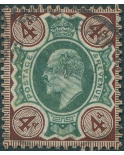 Great Britain 1902 SG238 4d deep green and chocolate-brown KEVII FU