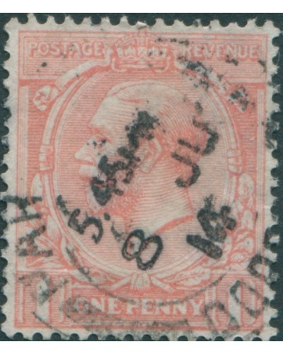 Great Britain 1912 SG359 1d pale rose-red KGV FU