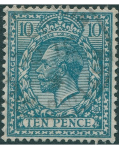Great Britain 1912 SG394 10d turquoise-blue KGV FU