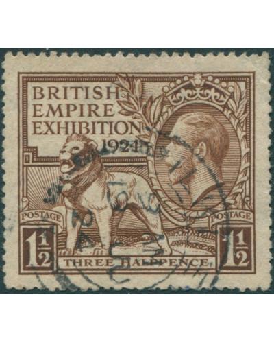 Great Britain 1924 SG431 1½d brown KGV Exhibition FU