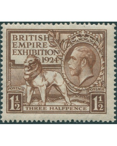 Great Britain 1924 SG431 1½d brown KGV Exhibition MLH