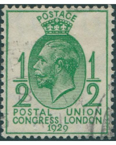 Great Britain 1929 SG434 ½d green KGV UPU Congress FU