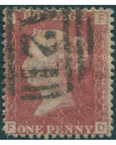 Great Britain 1858 SG44 1d lake-red QV DFFD FU