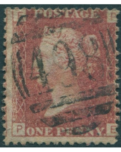 Great Britain 1858 SG44 1d lake-red QV EPPE FU