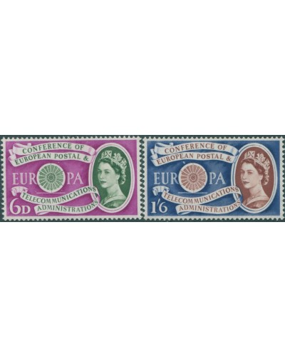 Great Britain 1960 SG621-622 QEII Postal and Telecommunications set MLH