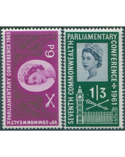 Great Britain 1961 SG629-630 QEII Commonwealth Parliamentary Conference set MLH