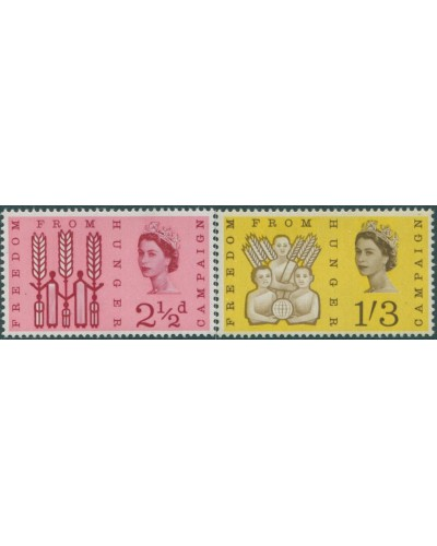Great Britain 1963 SG634-635 QEII Freedom from Hunger set MLH