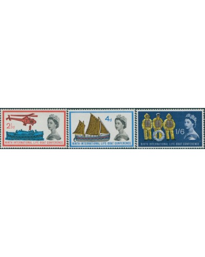 Great Britain 1963 SG639-641 QEII Lifeboat Conference set MLH