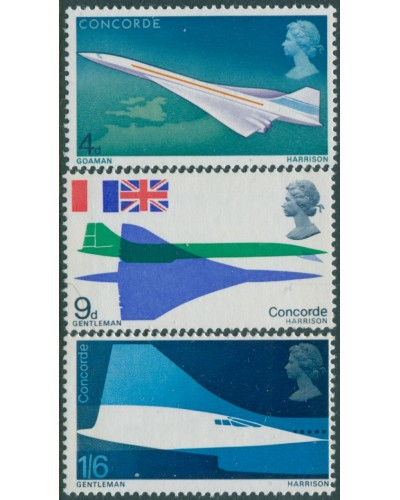 Great Britain 1969 SG784-786 QEII Concorde set MNH