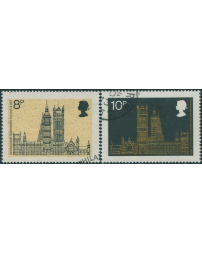 Great Britain 1973 SG939-940 QEII Parliamentary Conference set FU