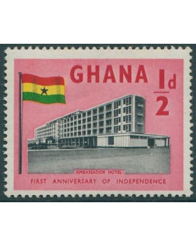 Ghana 1958 SG185 ½d brown and red Ambassador Hotel MNH