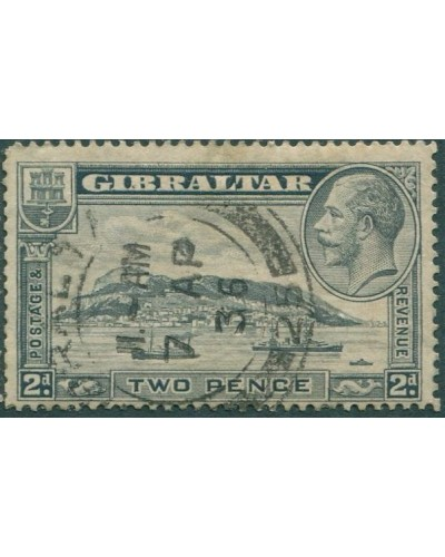 Gibraltar 1931 SG112a KGV 2d pale grey Rock of Gibraltar p13½ FU